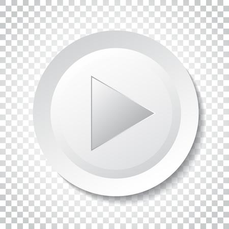 아이콘 벡터를 재생합니다. 플랫 스타일로 비디오 삽화를 재생합니다. 격리 된 배경에 간단한 비즈니스 개념 픽토그램입니다.