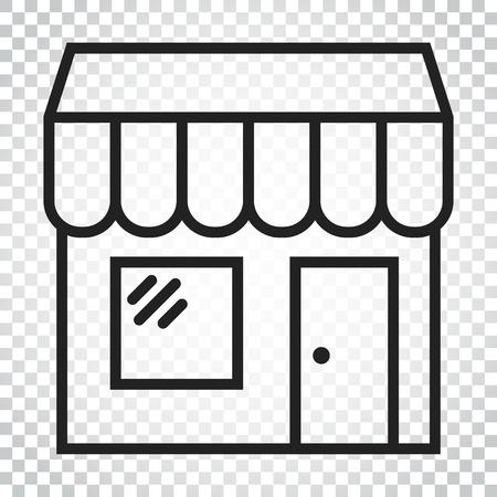 Icono del vector de la tienda. Tienda de ilustración de construcción. Concepto de negocio simple pictograma plano sobre fondo aislado. Foto de archivo - 83342832