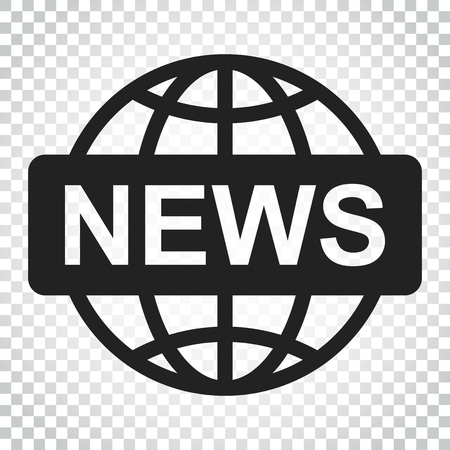 World news flat vector icon. News symbol logo illustration. Business concept simple flat pictogram on isolated background.