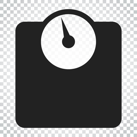 Bathroom scale weigher vector icon. Weigher, balance sign illustration. Business concept simple flat pictogram on isolated background.