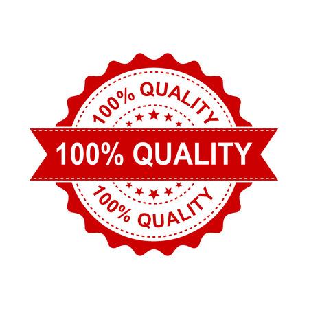 Tampon grunge de qualité à 100%. Illustration vectorielle sur fond blanc Pictogramme de timbre qualité concept commercial 100 pour cent. Banque d'images - 83820957