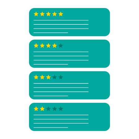 Review feedback cijferbel met sterpictogram. Vectorillustratie op witte achtergrond. Zakelijke concept klant tarief pictogram.