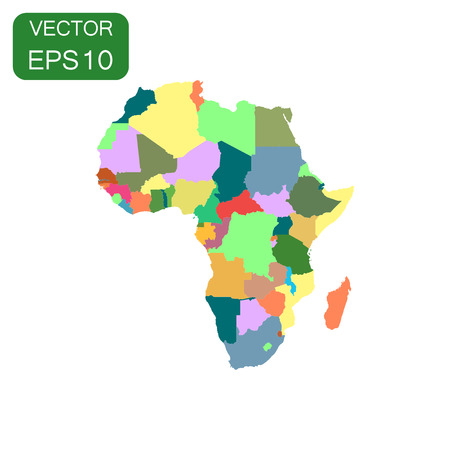 kenya: Africa map icon. Business cartography concept Africa pictogram. Vector illustration on white background.