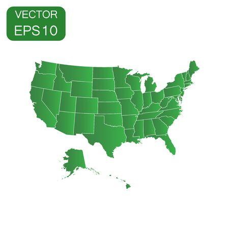 USA map icon. Business concept America politics pictogram. Vector illustration on white background.