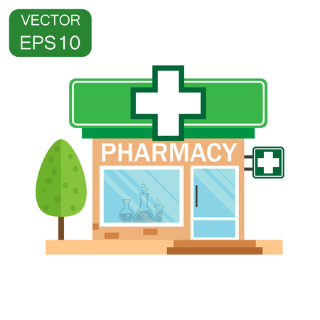 Pharmacy drugstore shop icon. Business concept store pharmacy pictogram. Illustration