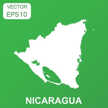 Nicaragua map icon. Business concept Nicaragua pictogram. Vector illustration on green background. Illusztráció