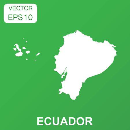 Ecuador map icon. Business concept Ecuador pictogram. Vector illustration on green background.