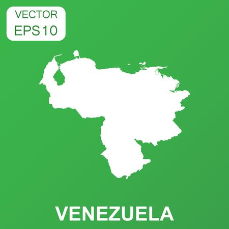 Venezuela map icon. Business concept Venezuela pictogram. Vector illustration on green background. Illustration