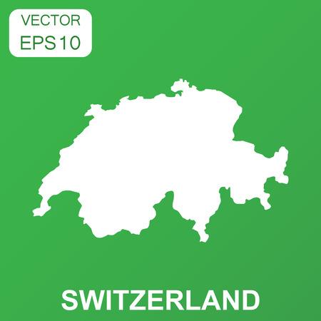 Switzerland map icon. Business concept Switzerland pictogram. Vector illustration on green background.