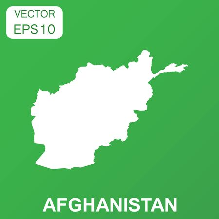 Afghanistan map icon. Business concept Afghanistan pictogram. Vector illustration on green background.