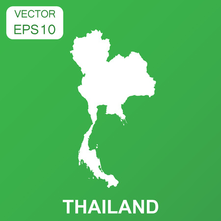 Thailand map icon. Business concept Thailand pictogram. Vector illustration on green background. Ilustrace