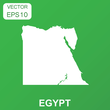 Egypt map icon. Business concept Egypt pictogram. Vector illustration on green background. Vettoriali