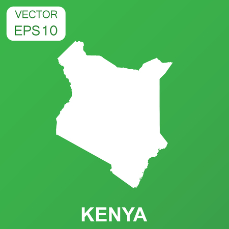 Kenya map icon. Business concept Kenya pictogram. Vector illustration on green background.