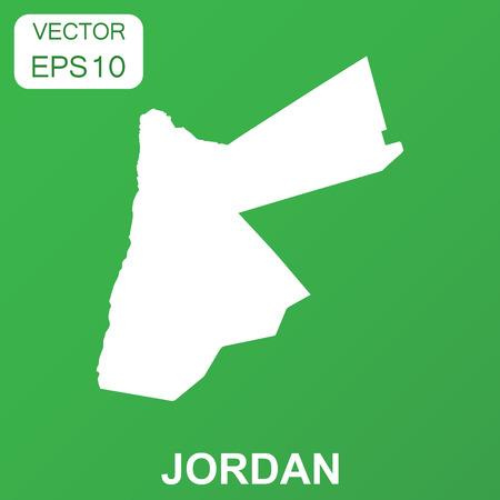 Jordan kaartpictogram. Bedrijfsconcept Jordan pictogram. Vectorillustratie op groene achtergrond.