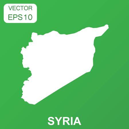 Syrië kaartpictogram. Pictogram bedrijfsconcept Syrië. Vectorillustratie op groene achtergrond.