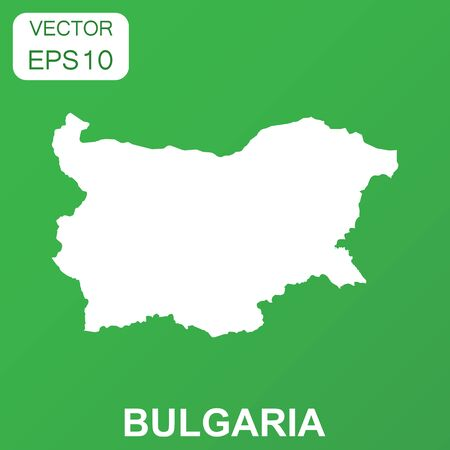 Bulgaria map icon. Business concept Bulgaria pictogram. Vector illustration on green background.