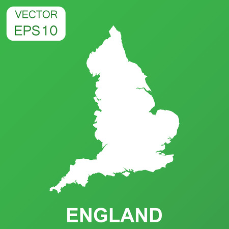 England map icon. Business concept England pictogram. Vector illustration on green background.