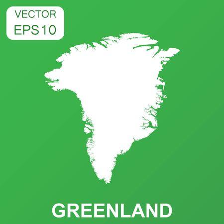 Groenland kaartpictogram. Bedrijfsconcept Groenland pictogram. Vectorillustratie op groene achtergrond.