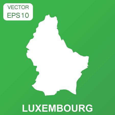 Luxembourg map icon. Business concept Luxembourg pictogram. Vector illustration on green background. Vettoriali