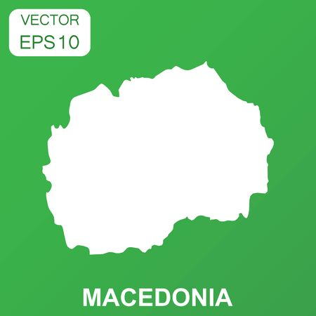 Macedonia map icon. Business concept Macedonia pictogram. Vector illustration on green background.
