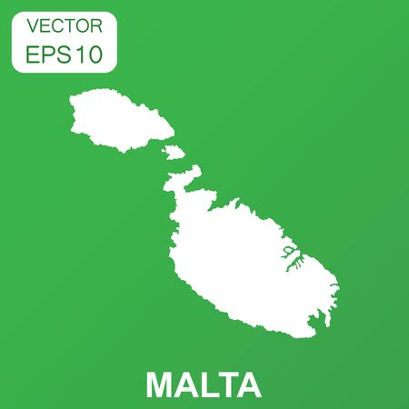 Malta map icon. Business concept Malta pictogram. Vector illustration on green background. 일러스트