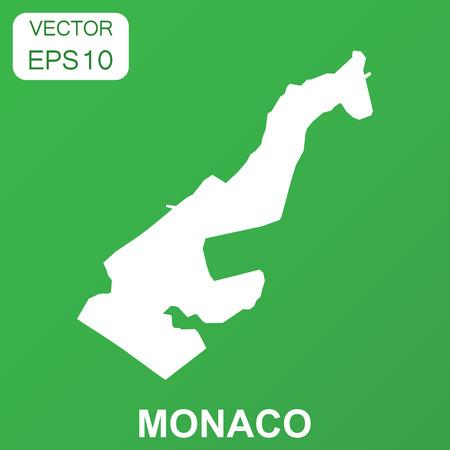 Monaco map icon. Business concept Monaco pictogram. Vector illustration on green background. Illustration