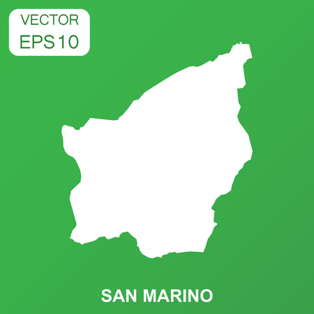 San Marino map icon. Business concept San Marino pictogram. Vector illustration on green background. Vettoriali
