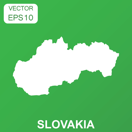 Slovakia map icon. Business concept Slovakia pictogram. Vector illustration on green background.