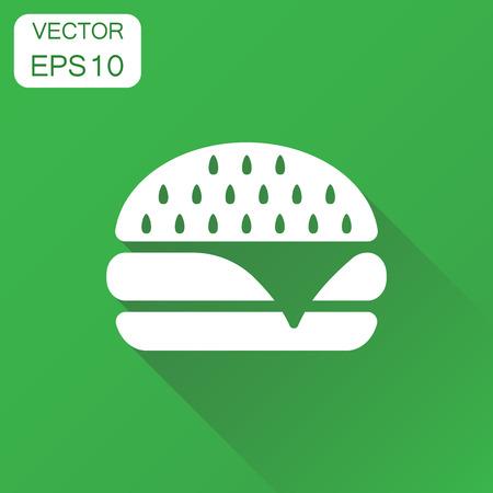 Burger fast food icon Иллюстрация