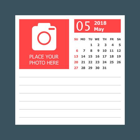Calendrier De Travail.Calendrier De Calendrier Calendrier Mensuel Modele De Conception De Calendrier Commence Sur Le Travail Illustration Vectorielle Entreprise De