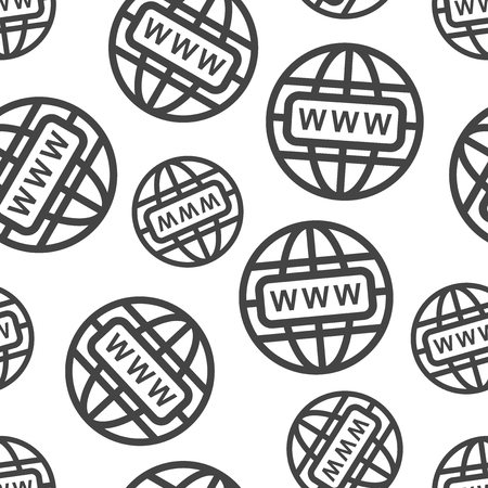 Go to web seamless pattern background icon. Business flat vector illustration. World network sign symbol pattern. Illustration