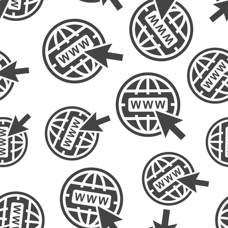 Go to web seamless pattern background icon. Business flat vector illustration. World network sign symbol pattern. Illustration