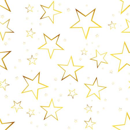 Falling star seamless pattern background. Business flat vector illustration. Stars sign symbol pattern.
