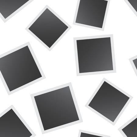 Photo frame seamless pattern background. Business flat vector illustration. Frame  concept sign symbol pattern.