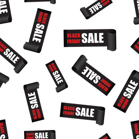 Black friday sales tag seamless pattern background. Business flat vector illustration. Discount sticker concept sign symbol pattern.