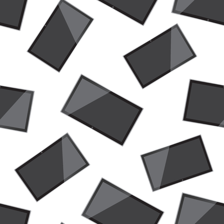 Tv realistic seamless pattern background. Business flat vector illustration. Television sign symbol pattern. Ilustração