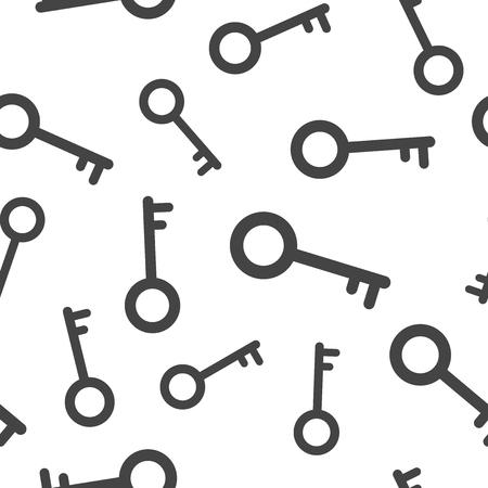 Key icon seamless pattern background. Business flat vector illustration. Unlock sign symbol pattern.
