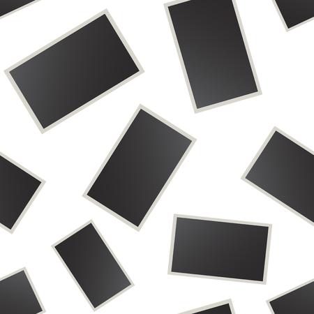 Photo frame seamless pattern background. Business flat vector illustration. Photo frame sign symbol pattern.