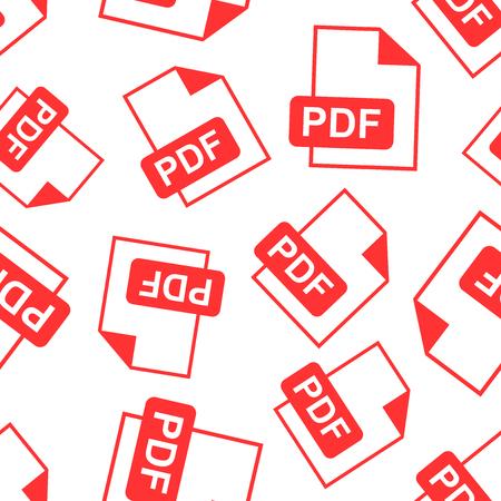 PDF download sem costura de fundo. Ilustração em vetor plana negócios Teste padrão do símbolo do sinal da placa do formato do pdf. Foto de archivo - 92330265