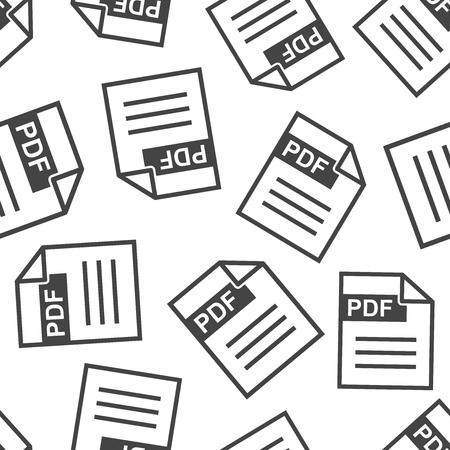 Descargar PDF de fondo sin patrón. Ilustración de vector plano de negocios. Patrón de símbolo de signo de tablero de formato PDF. Foto de archivo - 92330264