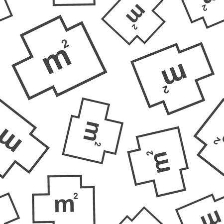 House plan seamless pattern background. Business flat vector illustration. House plan sign symbol pattern. Vettoriali
