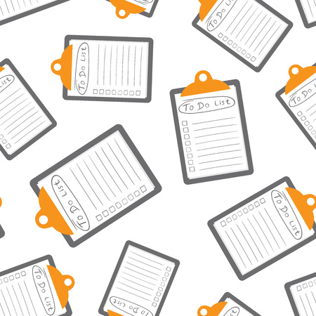 To do list icon with hand drawn text seamless pattern background. Business flat vector illustration. Checklist, task list symbol pattern.