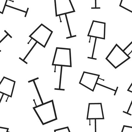 Lamp furniture seamless pattern background. Business flat vector illustration. Lamp symbol pattern.