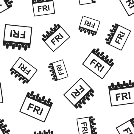 Friday calendar page seamless pattern background. Business flat vector illustration. Friday symbol pattern.