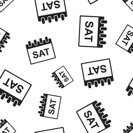 Saturday calendar page seamless pattern background. Business flat vector illustration. Saturday symbol pattern.