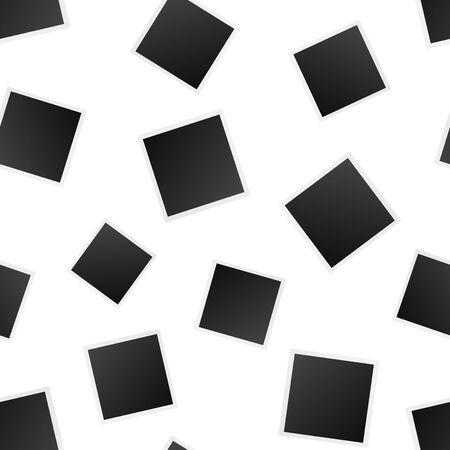 Blank photo frame seamless pattern background. Business flat vector illustration. Photoframe symbol pattern. Illustration