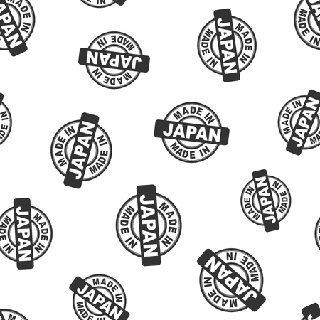 Made in Japan stamp seamless pattern background. Business flat vector illustration. Manufactured in Japan symbol pattern. Illustration