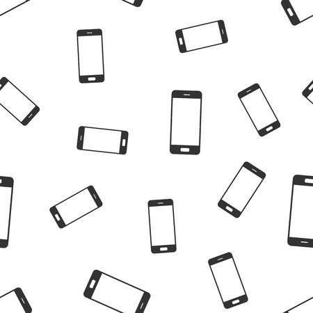 スマートフォンシームレスなパターンの背景。フラット ベクトルイラストレーション。携帯電話の記号パターン。
