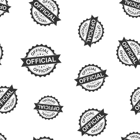Official seal stamp seamless pattern background. Business concept vector illustration. Official badge symbol pattern.