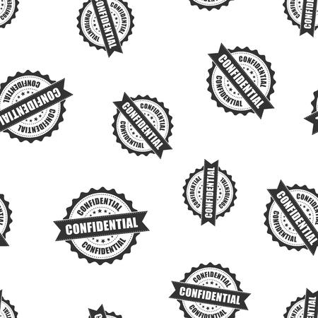 Confidential rubber stamp seamless pattern background. Business concept vector illustration. Confidential secret badge symbol pattern.